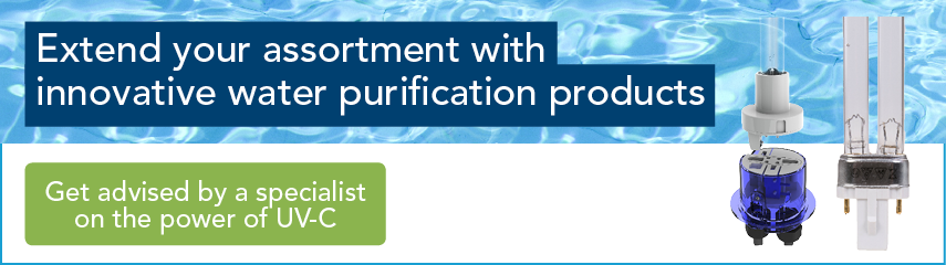 Extend your assortment with innovative water purification products